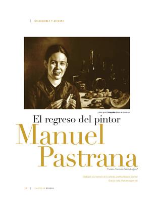 El regreso del pintor Manuel Pastrana