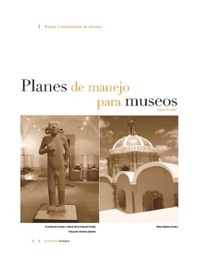Planes de manejo para museos