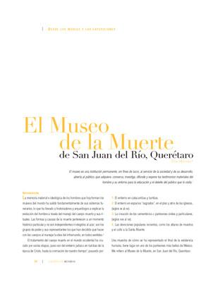 El Museo de la Muerte de San Juan del Río, Querétaro