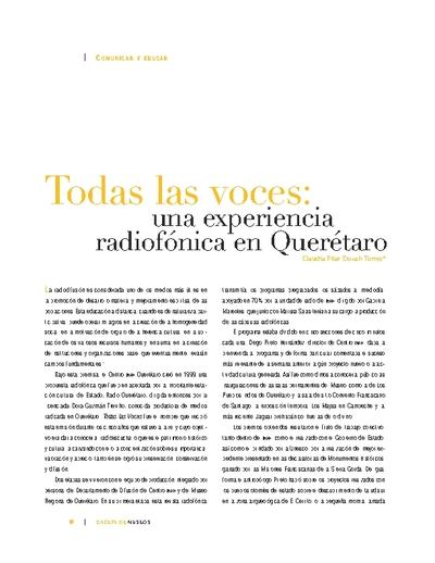Todas las voces: una experiencia radiofónica en Querétaro