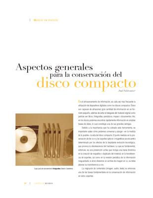 Aspectos generales para la conservación del Disco Compacto