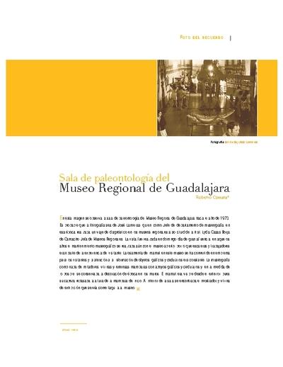 Sala de paleontología del Museo Regional de Guadalajara