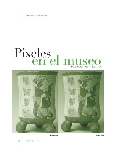 Pixeles en el museo