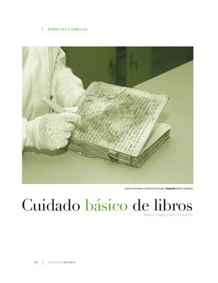 Cuidado básico de libros