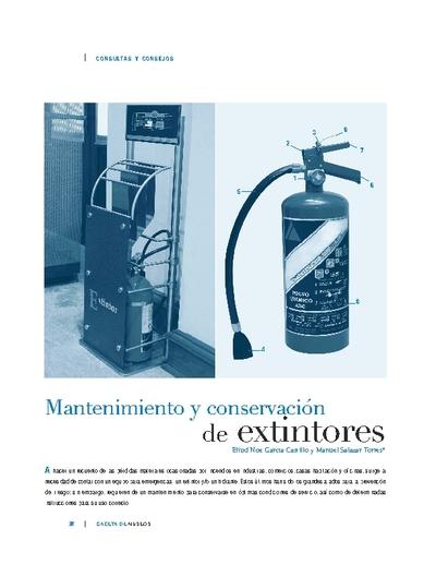 Mantenimiento y conservación de extintores