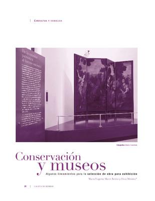 Conservación y museos:Algunos lineamientos para la selección de obra para exhibición