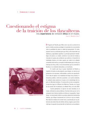 Cuestionando el estigma de la traición de los tlaxcaltecas. Una experiencia de reflexión ética en el museo