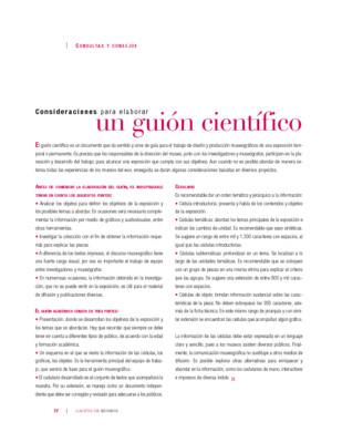 Consideraciones paraelaborar un guión científico