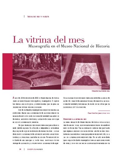 La Vitrina del Mes: Museografía en el Museo Nacional de Historia