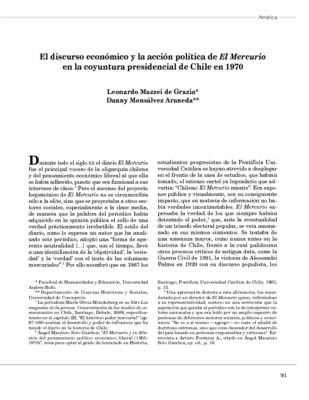 El discurso económico y la acción política de El Mercurio en la coyuntura presidencial de Chile en 1970