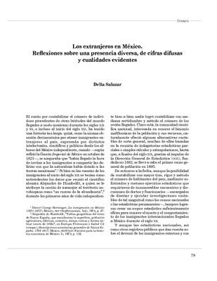 Los extranjeros en México. Reflexiones sobre una presencia diversa, de cifras difusas y cualidades evidentes.