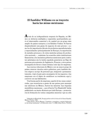 El fundidor Williams en su trayecto hacia las minas mexicanas