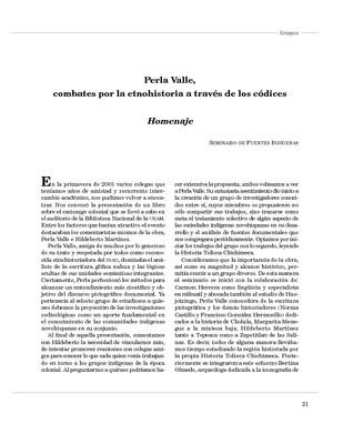 Perla Valle, combates por la etnohistoria a través de los códices. Homenaje