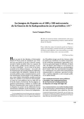 La imagen de España en el 100 y 150 aniversario de la Guerra de la Independencia en el periódico ABC