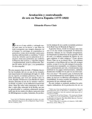 Acuñación y contrabando de oro en Nueva España (1777-1822)