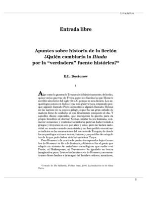 """Apuntes sobre historia de la ficción ¿Quién cambiaría la Ilíada por la """"verdadera"""" fuente histórica?"""