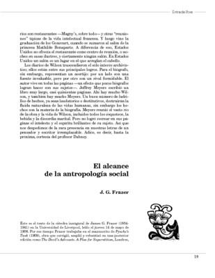 El alcance de la antropología social