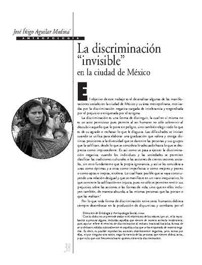 """La discriminación """"invisible"""" en la ciudad de México"""