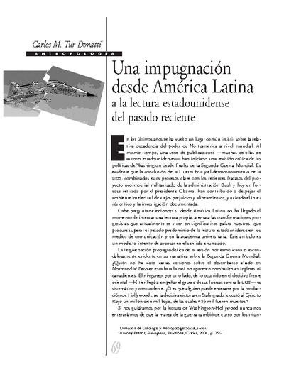 Una impugnación desde América Latina a la lectura estadounidense del pasado reciente