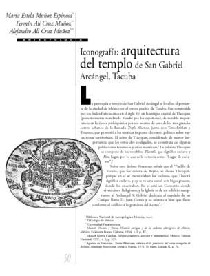 Iconografía: arquitectura del templo de San Gabriel Arcángel, Tacuba