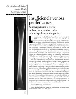 Insuficiencia venosa periférica (IVP). Su interpretación a través de las evidencias observadas en un esqueleto contemporáneo