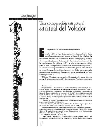 Una comparación estructural del ritual del Volador
