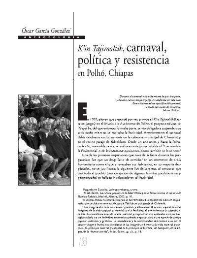 Kin Tajimoltik, carnaval, politica y resistencia en Polhó, Chiapas