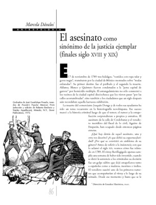 El asesinato como sinónimo de la justicia ejemplar (finales siglo XVIII y XIX)