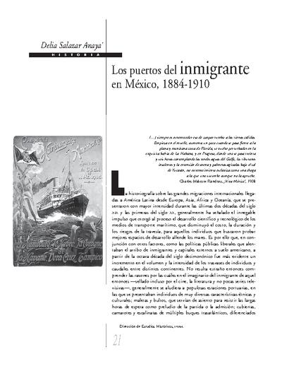 Los puertos del inmigrante en México, 1884-1910