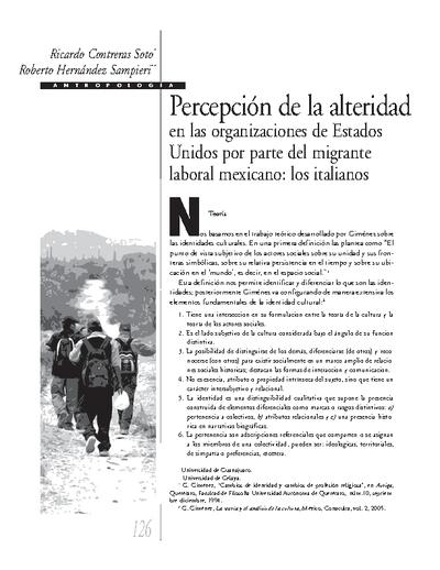 Percepción de la alteridad en las organizaciones de Estados Unidos por parte del migrante laboral mexicano: los italianos