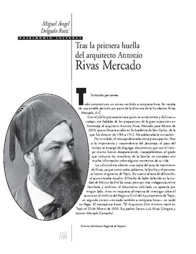 Tras la primera huella del arquitecto Antonio Rivas Mercado