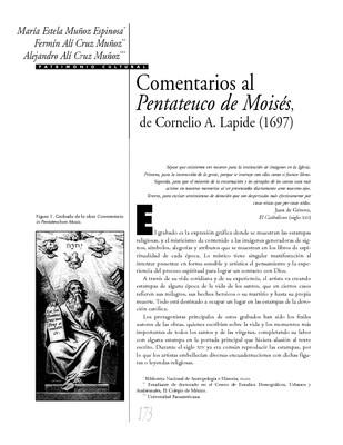 Comentarios del Pentateuco de Moisés, de Cornelio A. Lapide (1697)