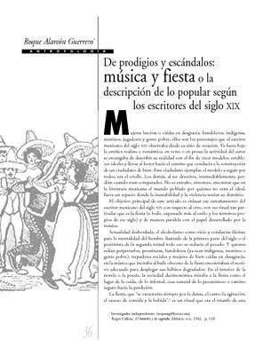 De prodigios y escándalos: música y fiesta o la descripción de lo popular según los escritores del siglo XIX