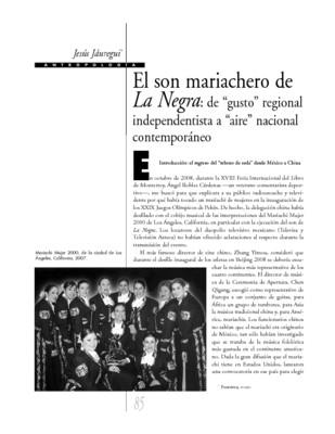 """El son mariachero de La Negra: de """"gusto"""" regional independentista a """"aire"""" nacional contemporáneo"""