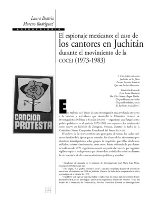 El espionaje mexicano: el caso de los cantores en Juchitán durante el movimiento de la COCEI (1973-1983)