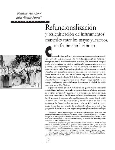 Refuncionalización y resignificación de instrumentos musicales entre los mayas huastecos, un fenómeno histórico
