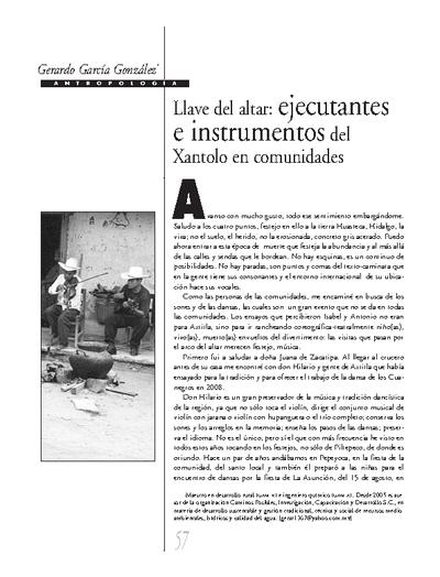 Llave del altar: ejecutantes e instrumentos del Xantolo en comunidades