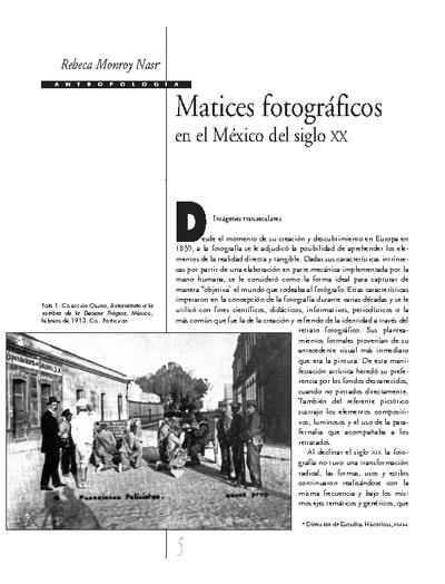Matices fotográficos en el México del siglo XX