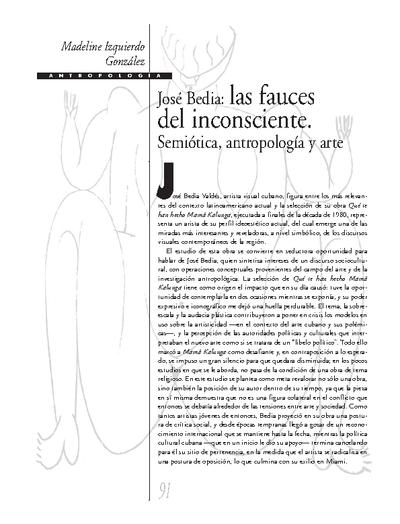José Bedia: las fauces del inconsciente. Semiótica, antropología y arte