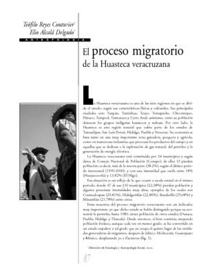 El proceso migratorio de la Huasteca veracruzana