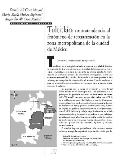 Tultitlán: contratendencia al fenómeno de terciarización en la zona metropolitana de la ciudad de México