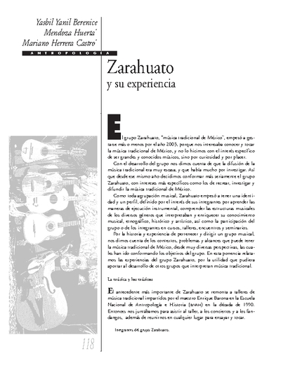 Zarahuato y su experiencia