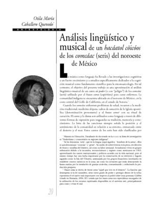 Análisis lingüistico y musical de un hacáatol cöicóos de los comcáac (seris) del noroeste de México