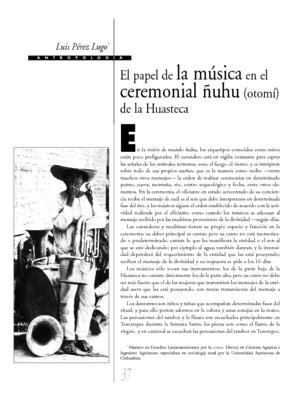 El papel de la música en el ceremonial ñuhu (otomí) de la Huasteca