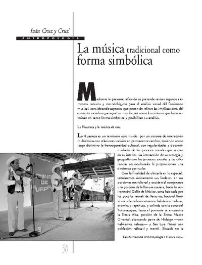 La música tradicional como forma simbólica