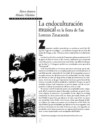 La endoculturación musical en la fiesta de San Lorenzo Zinacantán