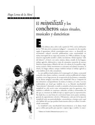 El mitotiliztli y los concheros: raíces rituales,musicales y dancísticas