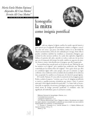 Iconografía: la mitra como insignia pontifical