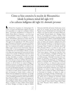 Cuatrocientos años después: discusión general sobre aculturación, cambio social y la procedencia histórica de los elementos culturales