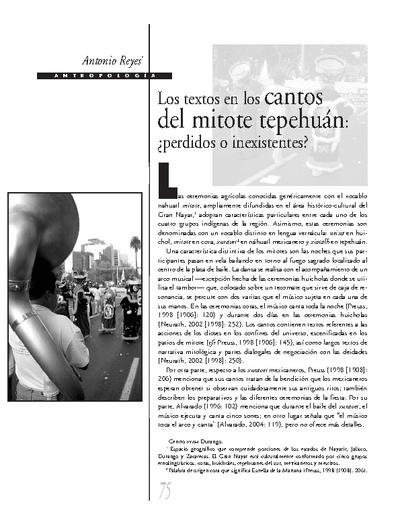 Los textos en los cantos del mitote tepehuán: ¿perdidos o inexistentes?